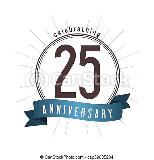 25 Year. Celebrating Anniversary. Vector graphic - csp39035204