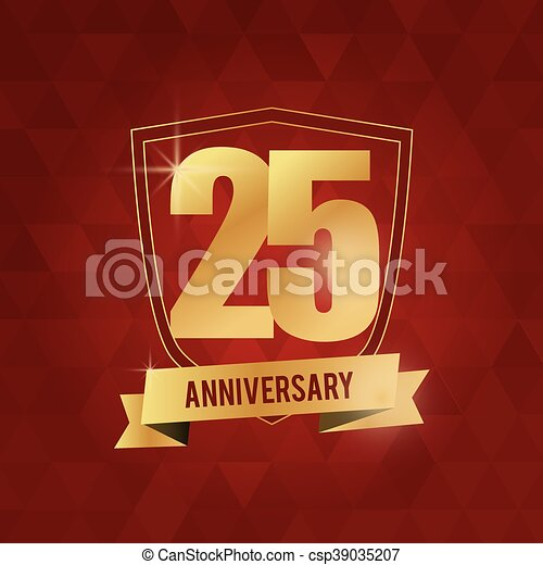 25 Year. Celebrating Anniversary. Vector graphic - csp39035207