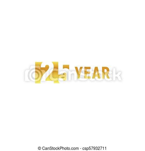 25 Year Happy Birthday Gold Logo On White Background Corporate