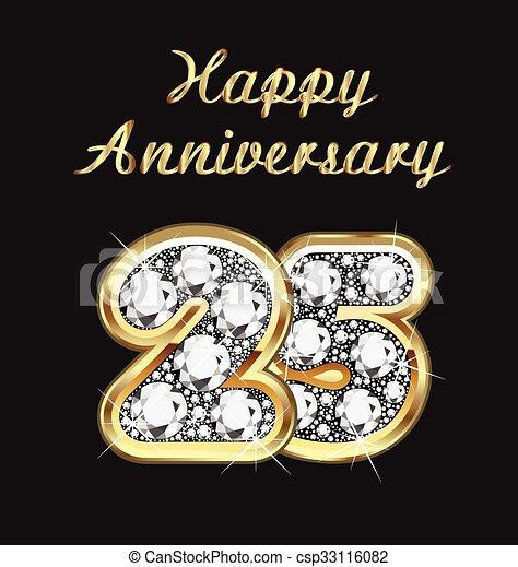 25 years anniversary birthday - csp33116082
