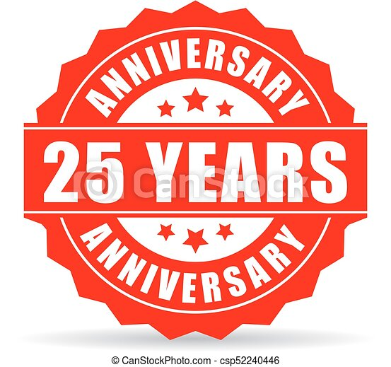 25 years anniversary celebration vector icon isolated on white rh canstockphoto com 25 years logo psd 25 years logo vector free