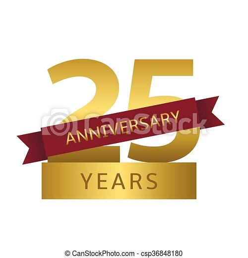 25 years anniversary - csp36848180