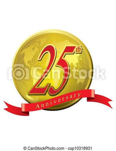 25 years anniversary - csp10318931