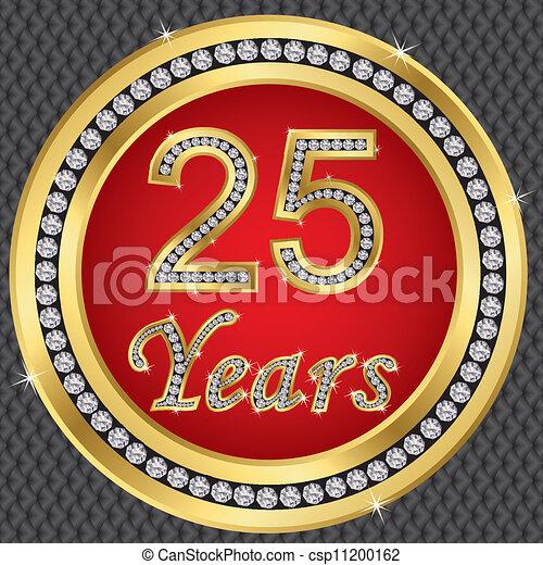 25 years anniversary, happy birthda - csp11200162