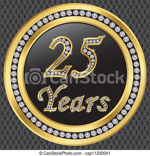 25 years anniversary, happy birthda - csp11200041