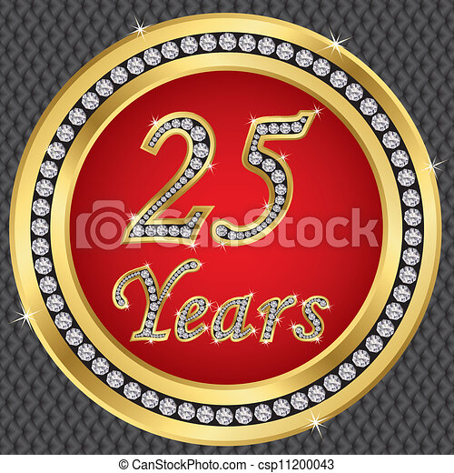 25 years anniversary, happy birthda - csp11200043