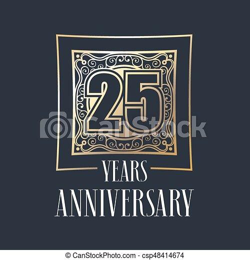 25 years anniversary vector icon, logo - csp48414674