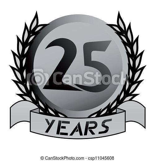 25 years emblem - csp11045608