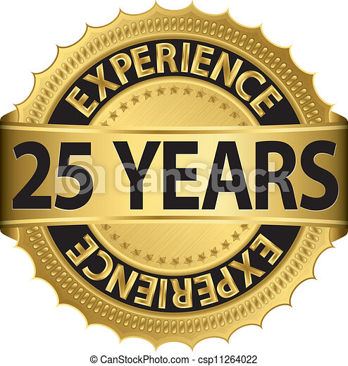 25 years experience  - csp11264022