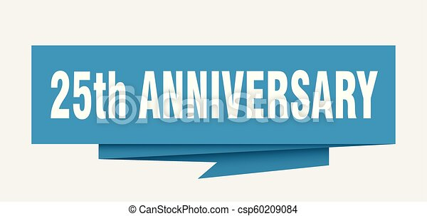 25th anniversary sign 25th anniversary paper origami Silver 25th Pastoral Anniversary 25th Business Anniversary Postcard
