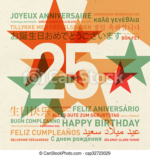 25th anniversary happy birthday card from the world 25th clip 25th anniversary happy birthday card from the world csp32723029 bookmarktalkfo Gallery