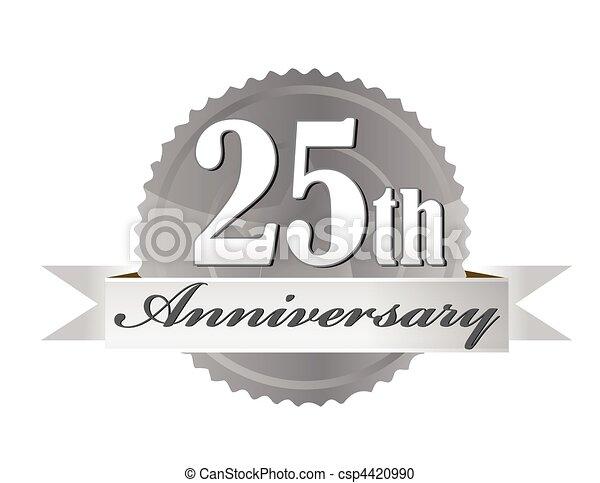 25th Anniversary Seal - csp4420990