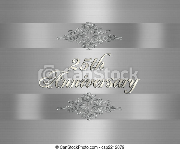 25th Silver Wedding Anniversary Invitation