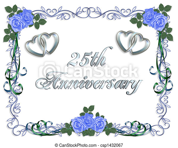 25th wedding anniversary border 25th wedding anniversary card or 25th wedding anniversary border csp1432067 stopboris Image collections