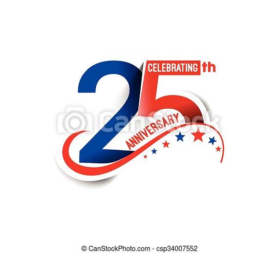 25th Years Anniversary - csp34007552