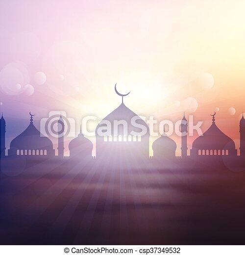2605, paysage, ramadan, fond - csp37349532