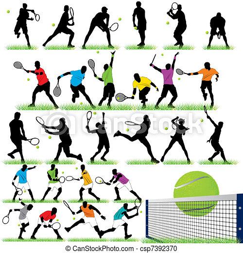 27 Tennis Players set - csp7392370