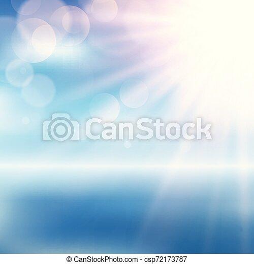 Paisaje de playa concentrado con luces Bokeh 2707 - csp72173787