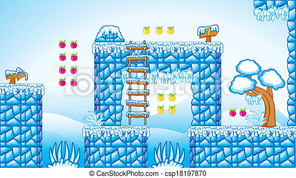 2D Fliesenset Plattform Spiel 10 - csp18197870