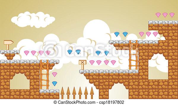 2D Tileset Plattform Spiel 5 - csp18197802