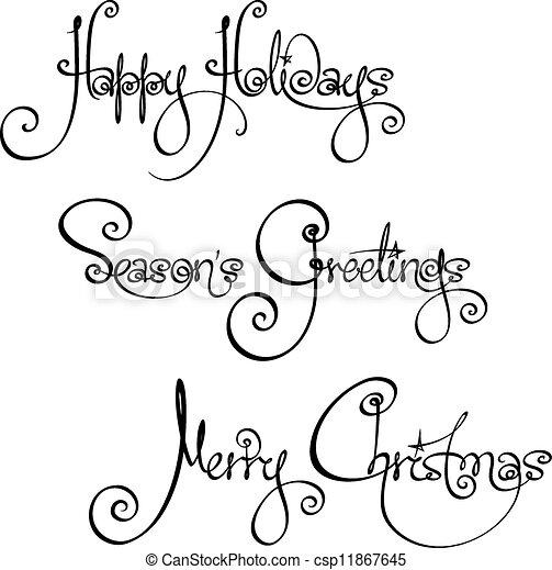 3, 時間, wi, クリスマス, 手書き - csp11867645