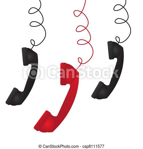 3, 電話 - csp8111577