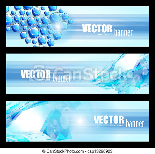 3 abstract banner for web usage , business card or corporate brochure layouts.  - csp13298923