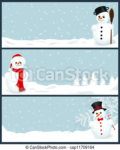 3 Christmas banners - csp11709164