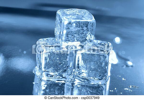 3, cubes, glace - csp0037949