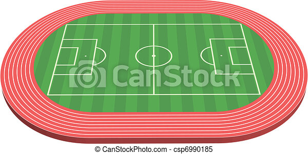 3 dimensional football field pitch - csp6990185