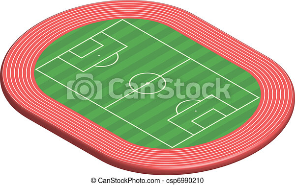 3 dimensional football field pitch - csp6990210