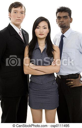 Divertido equipo de negocios 3 - csp0111495