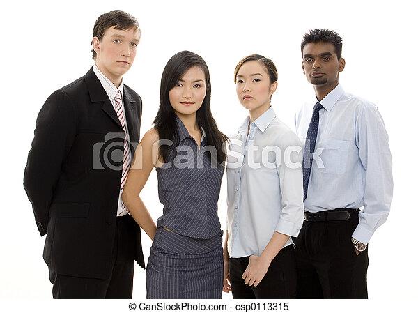 Divertido equipo de negocios 3 - csp0113315