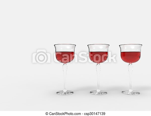 3 Glasses Of Wine - csp30147139