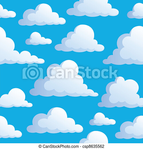 3, nuages, seamless, fond - csp8635562