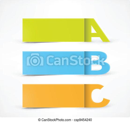3 Option banners: A, B, C - csp9454240