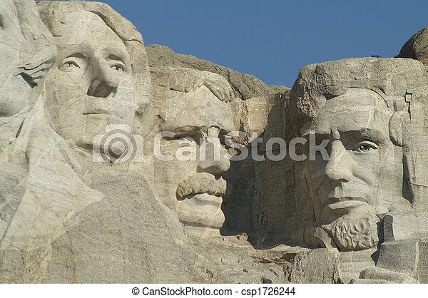 3 Presidents at Mount Rushmore National Memorial - csp1726244