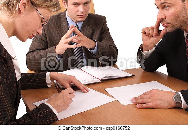 3, riunione, affari - csp0160752