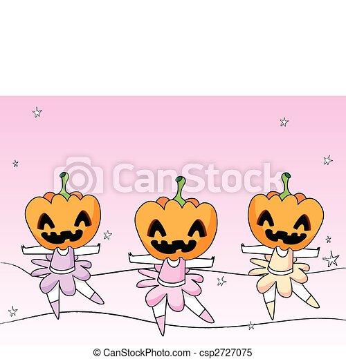 3 Spooky Ballerinas - csp2727075