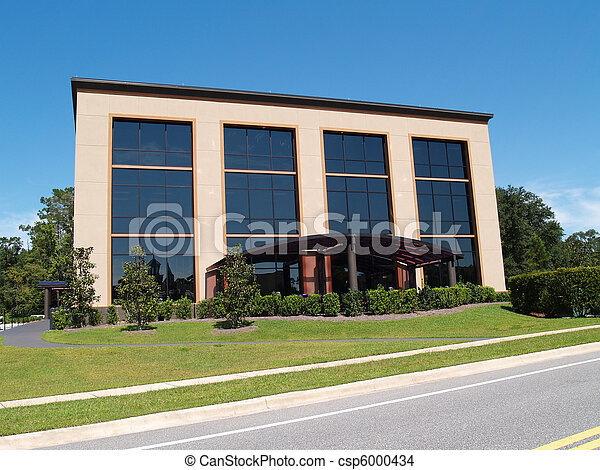 3 Story Office Building With Glass  - csp6000434