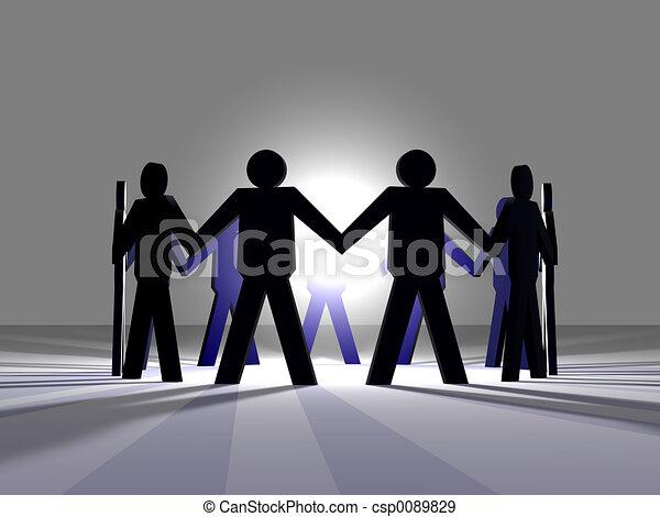 3, teamwork, macht - csp0089829