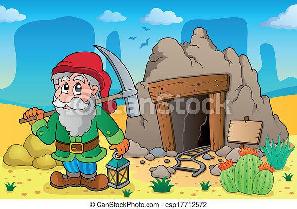 3, thema, oud, mijn, woestijn - csp17712572