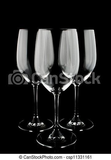 3 Wine Glasses - csp11331161