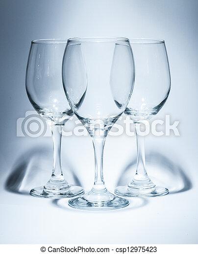3 Wine Glasses - csp12975423