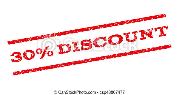 30 Percent Discount Watermark Stamp - csp43867477