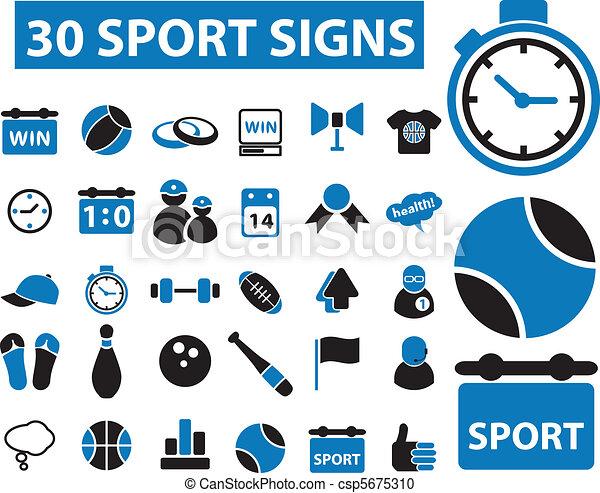 30 sport signs - csp5675310