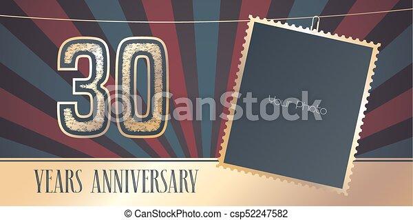 Th anniversary celebrating classic vector logo design premium