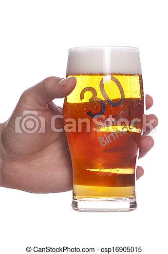 30th Bier Verjaardag Viering 30th Bier Jarig Studio Cutout