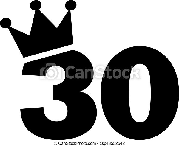 30th birthday number crown eps vector search clip art rh canstockphoto ie 40th birthday clipart free 40th birthday clipart images