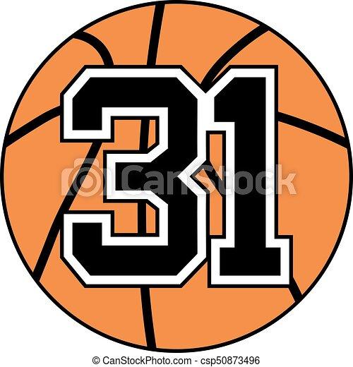 31 basket symbol - csp50873496